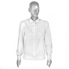 Рубашка форменная белая женская дл/рукав