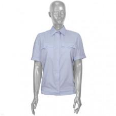 Рубашка форменная бледно-голубая Полиция женская