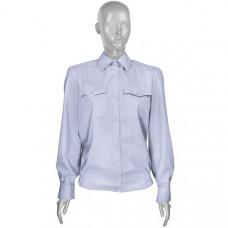 Рубашка форменная бледно-голубая ОВД женская